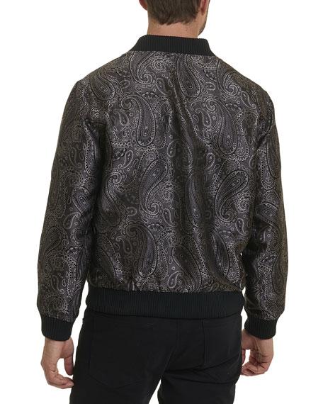 Ausable Paisley Silk Bomber Jacket