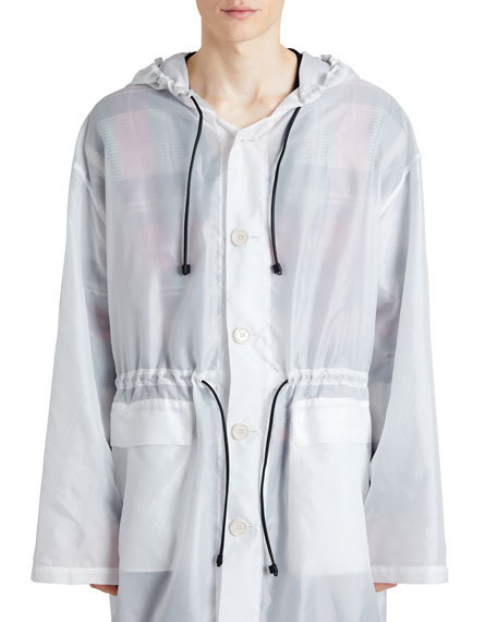 Burberry Hooded Textured Lightweight Parka