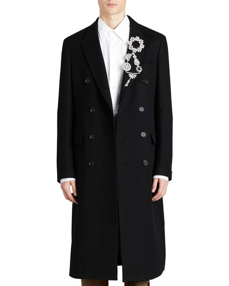 Burberry Chesterfield Long Double-Breasted Cashmere Coat