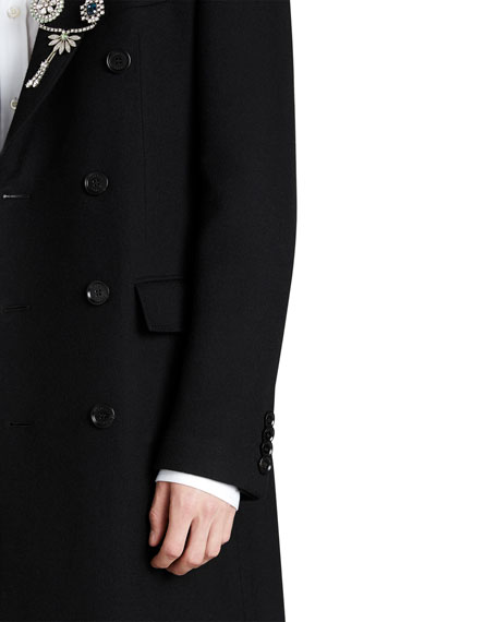 Chesterfield Long Double-Breasted Cashmere Coat