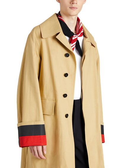 Bonded Poplin Single-Breasted Car Coat
