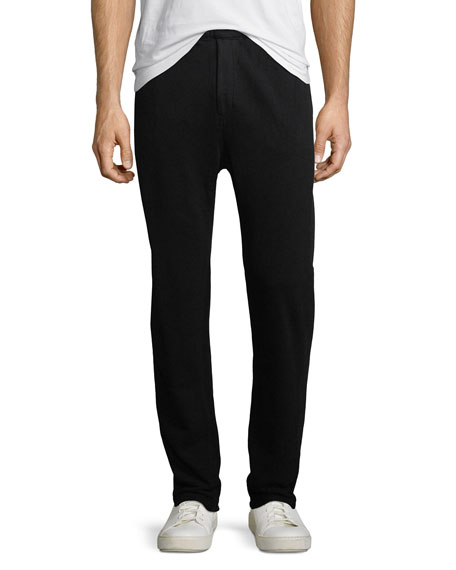Ribbed-Side Jogger Pants
