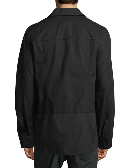 Shirting-Trim Button-Front Jacket