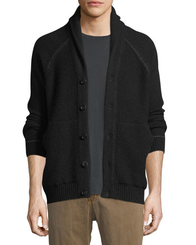 Seed Stitch Wool-Blend Cardigan
