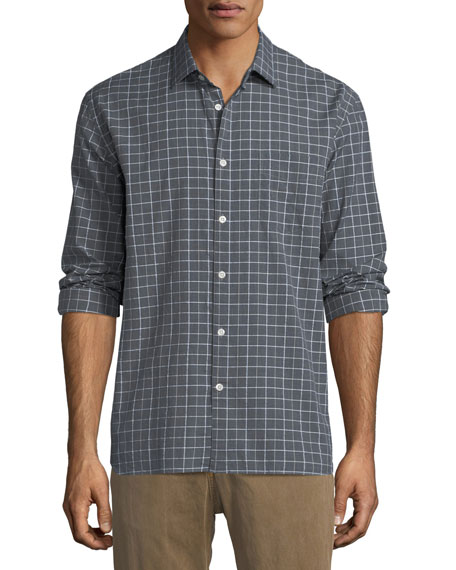 Billy Reid John T Grid-Print Sport Shirt