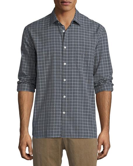 John T Grid-Print Sport Shirt