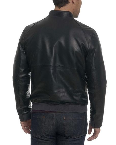 Massena Leather Bomber Jacket