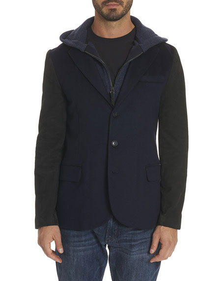 R By Robert Graham Mercello Hybrid Hoodie Blazer