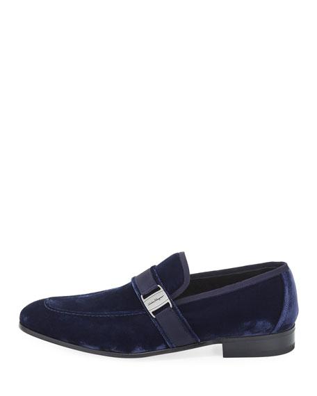 Velvet Formal Loafer, Navy