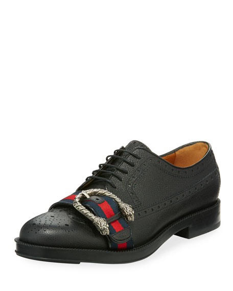 Gucci Beyond Tag Buckle Lace-Up Shoe