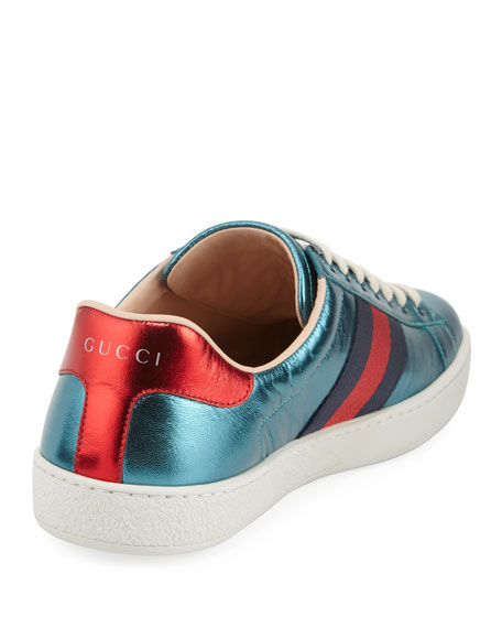 New Ace Metallic Leather Planet Sneaker