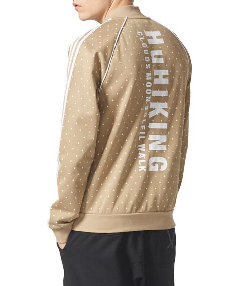 Hemp Dot Zip-Front Jacket