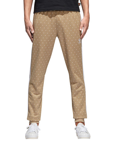 Dot-Print Hemp Pants