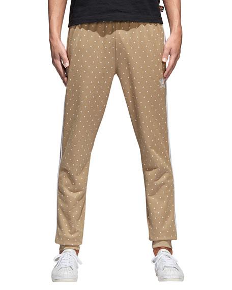 Dot-Print Hemp Pants