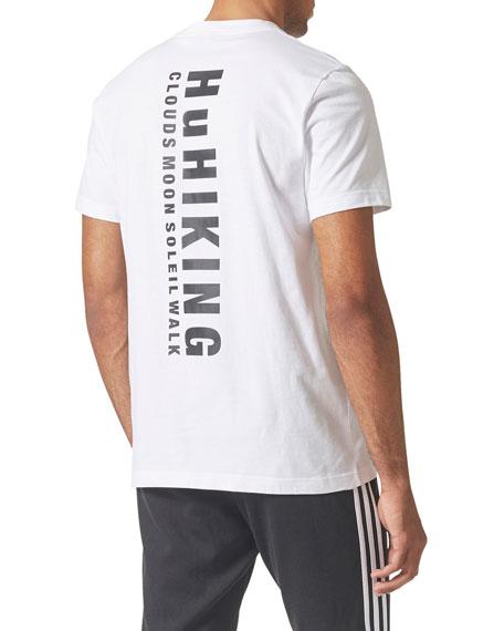 Camouflage-Print Trefoil-Graphic T-Shirt
