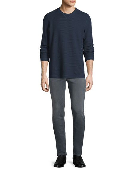 Sartor Powerlines Skinny-Leg Denim Jeans, Dark Gray