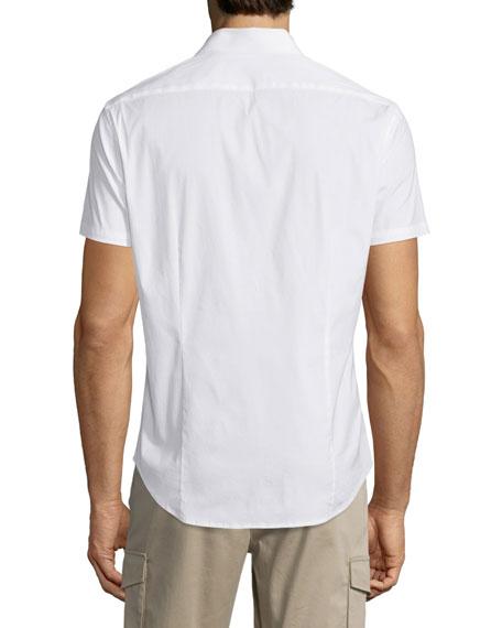 Sylvain Short-Sleeve Shirt, White