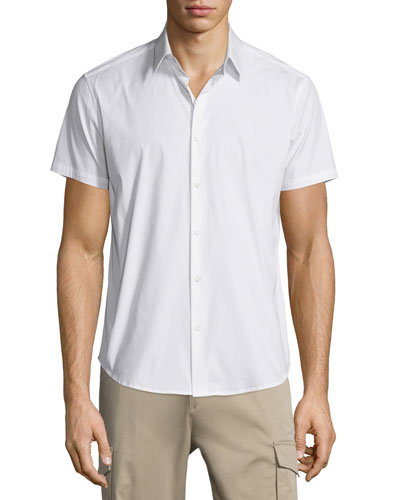 Sylvain Short-Sleeve Shirt, White
