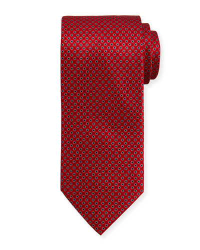 Neat Circles Silk Tie