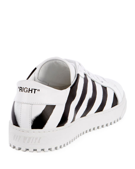 Diagonal Spray-Stripe Fashion Sneaker