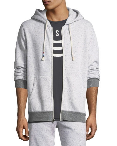 Sol Angeles Contrast-Trim Peppered Hoodie
