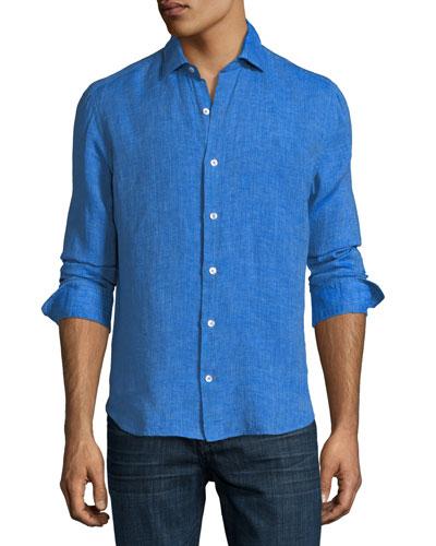 Fray Edge Linen Sport Shirt