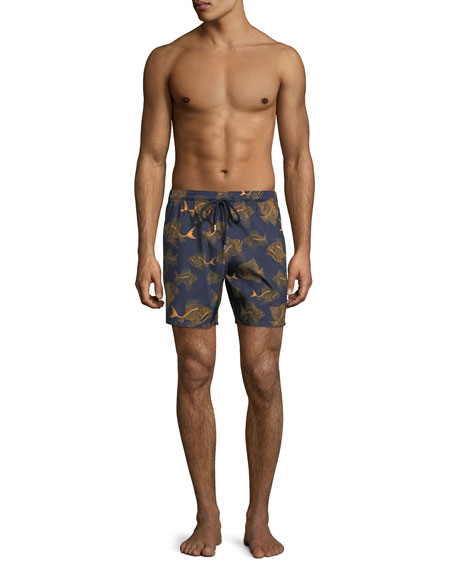Mahina Prehistoric Fishes Swim Trunks