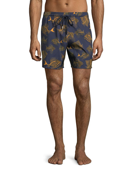 Vilebrequin Mahina Prehistoric Fishes Swim Trunks