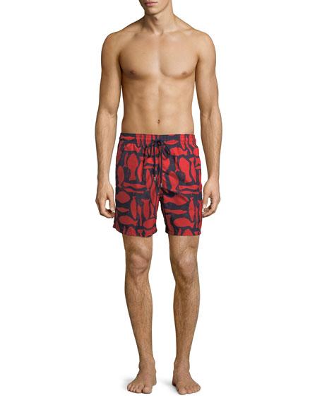 Moorea Silex Fishes Swim Trunks
