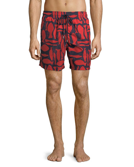 Vilebrequin Moorea Silex Fishes Swim Trunks