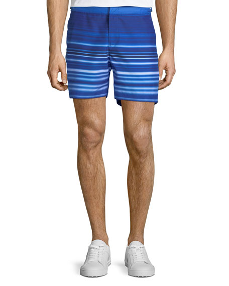 Orlebar Brown Bulldog Planetary Striped Sport Shorts