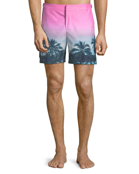 Orlebar Brown Bulldog Tropical-Printed Swim Trunks