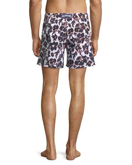 Moorea Natural Flowers Printed Swim Trunks