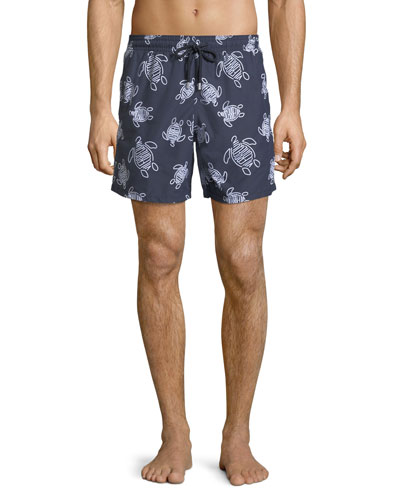 Moorea Logo Turtle Printed Swim Trunks