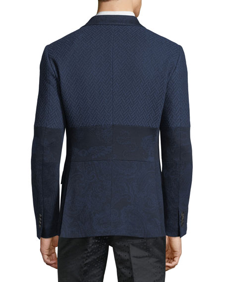 Patched Jacquard Jacket