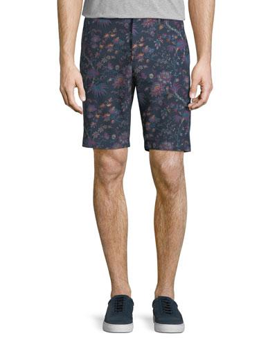 Floral-Print Bermuda Shorts