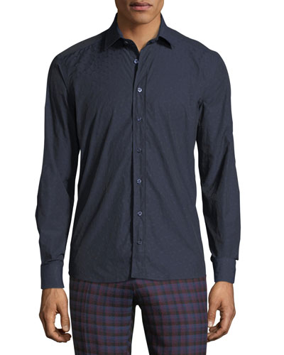 New Warrant Micro-Print Sport Shirt