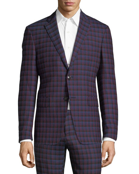 Check-Print Wool Sport Coat