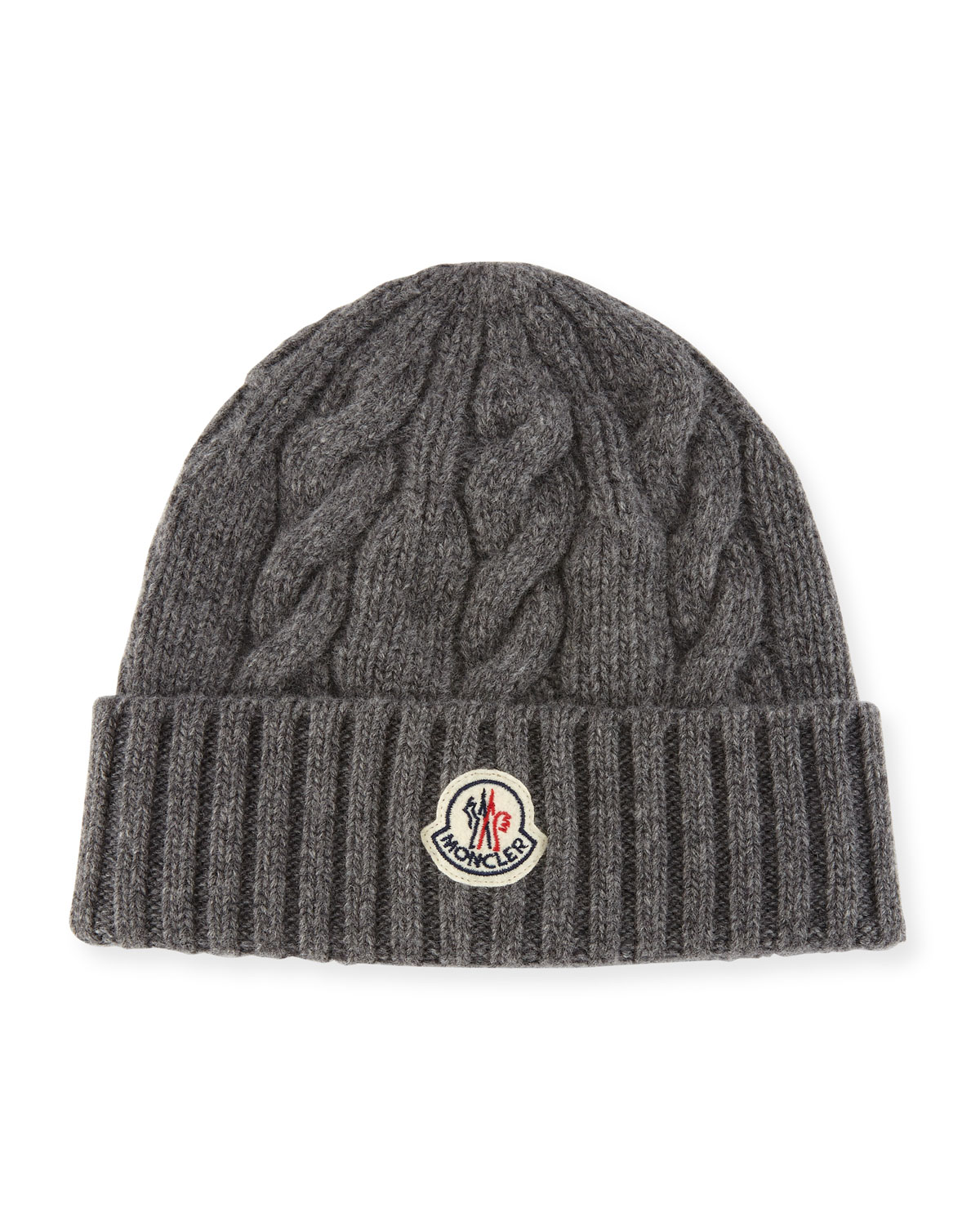 Moncler Men s Cable-Knit Wool Beanie Hat  e11e30f2adb