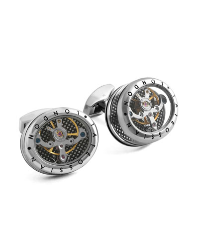 Tourbillon Movement Cuff Links