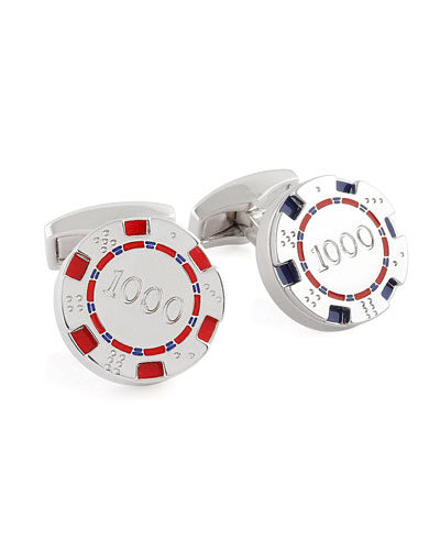 Poker Chip Cuff Links