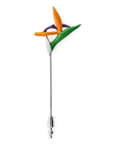 Bird-of-Paradise Lapel Pin