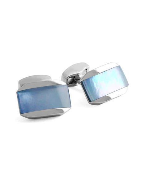 Blue Mother-of-Pearl Cuff Links