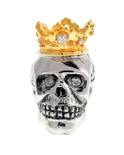 Crowned Skull Lapel Pin