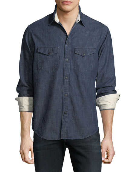 Rag & Bone Beck Denim Western Shirt
