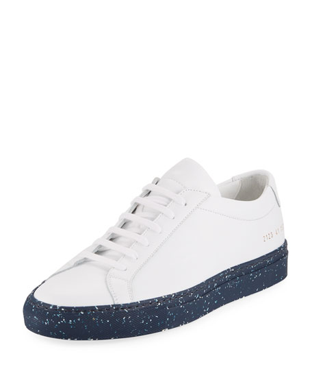 Men's Achilles Leather Low-Top Sneaker with Confetti Sole