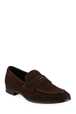 Prada Suede Vitello Loafer