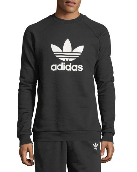 Men's Trefoil Warm-Up Sweatshirt, Black