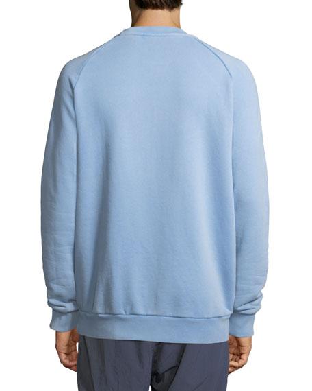 Trefoil Warm-Up Sweatshirt, Light Blue