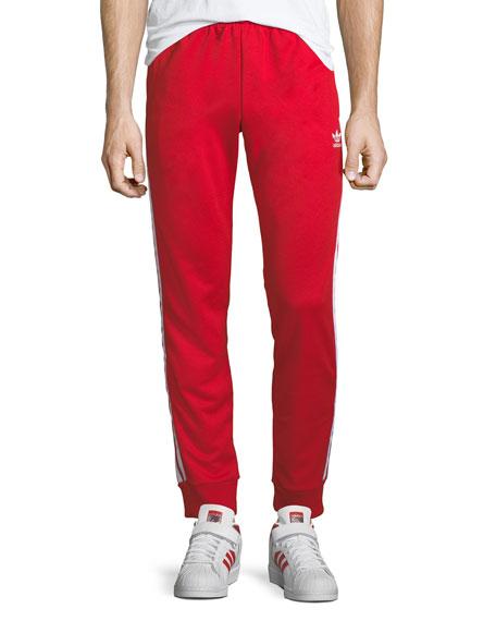 Side-Stripe Track Pants, Scarlet
